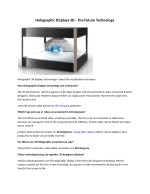 Holographic 3D Display Technology, Hologram 3D, Magic Mirror by Zed Interactive