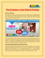 The Evolution In The Field Of Printing - Aprintco