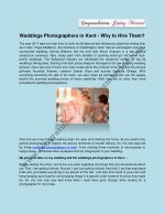 Weddings Photographers in Kent - Why to Hire Them?