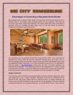 Advantages of Contracting a Reputable Home Builder