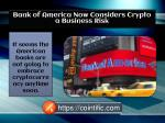 Bank of America Now Considers Crypto a Business Risk | Cointific.com