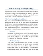 How to Develop Trading Strategy?