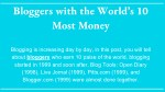 Bloggers with the World's 10 Most Money | Newsifier