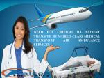 Get an Advantage of Falcon Emergency Air Ambulance Service in Chennai