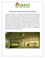 Columbia Asia Hospital - Best Multi Specialty Hospital Ghaziabad