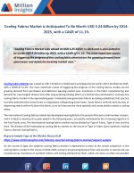 Cooling Fabrics Market Strategy Framework and Key Companies Analysis by 2014-2025