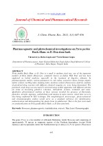 Pharmacognostic and phytochemical investigations on Pyrus pashia Buch.-Ham. ex D. Don stem bark