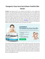 Cleargenix: Increase the Elasticity & level of Collegan in Your Skin!