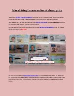 Fake driving license online at cheap price