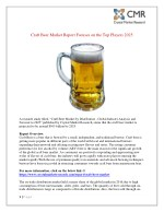 Craft Beer Market is anticipated to reach approximately $ 505 billion by 2025