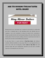 Are You Booking Your Hay River Motel Online