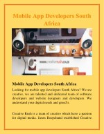 Mobile App Developers South Africa