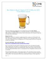 Beer Market is anticipated to reach approximately $ 925.33 billion by 2025