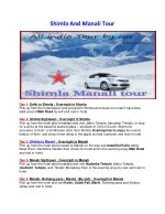 Kullu Manali Tour by Car
