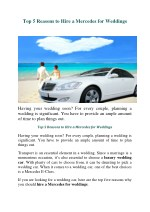 Top 5 Reasons to Hire a Mercedes for Weddings