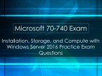 70-740 Real Exam Questions
