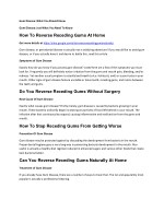 Can You Reverse Receding Gums Naturally At Home