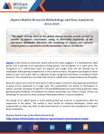 eSports Market Research Methodology and Data Analysis by 2014-2025