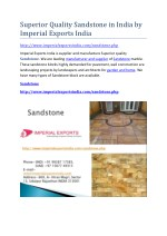 Superior Quality Sandstone in India by Imperial Exports India