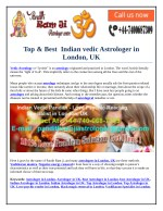 Top & Best Indian vedic Astrologer in London, UK