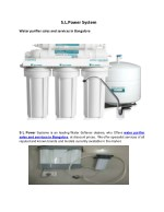 water purifier sales and services in Bangalore