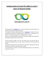 Lenskart plans to invest $5 million in next 3 years at Haryana facility
