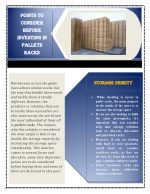 Points To Consider Before Investing In Pallets Racks