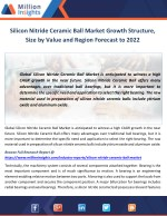 Silicon Nitride Ceramic Ball Market Growth Structure, Size by Value and Region Forecast to 2022