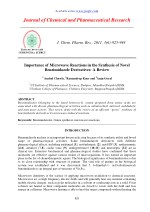 Importance of Microwave Reactions in the Synthesis of Novel Benzimidazole Derivatives: A Review