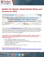Bubble Tea Market- Global Market Status and Forecast to 2025
