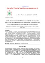 Effects of aqueous extract of Hibiscus sabdariffa L. calyces on liver marker enzymes of phenobarbitone-induced adult wis