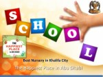 Best Nursery in Khalifa City