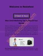 Mass email marketing services, best email service for business   nextehost