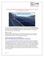Solar Rooftop Market is projected to expand at a steady CAGR over the forecast period 2022
