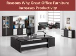 Reasons Why Great Office Furniture Increases Productivity