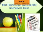 Best Tips to Crack Teaching Jobs Interview in China