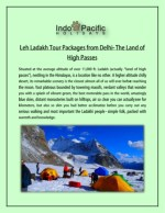 Leh Ladakh Tour Packages from Delhi - The Land of High Passes