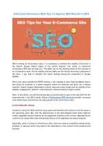 Advanced eCommerce SEO Tips To Improve SEO Results In 2018