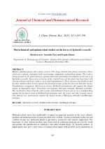 Phytochemical and antimicrobial studies on the leaves of Spilanthes acmella