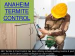 Anaheim termite treatment