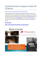Top Black Granite Company in India UK US Russia
