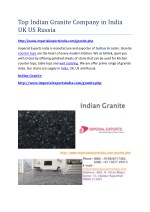Top Indian Granite Company in India UK US Russia