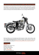 Royal Enfield Classic 350 Price in Delhi- BNT Royal Enfield
