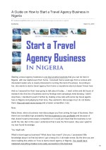 How to start a travel agency business in Nigeria