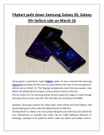 Flipkart pulls down samsung galaxy s9, galaxy s9 before sale on march 16
