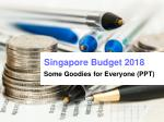 Singapore budget 2018-Key Highlights and Announcement