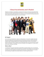 A Stress Free Job Interview Now Its Possible - Etisalat Yellowpages