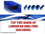 Top Two Kinds of Longspan Shelving Discussed
