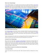 What is Forex Trading Strategy
