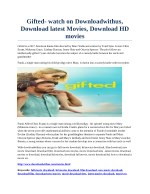Gifted- watch on Downloadwithus, Download latest Movies, Download HD movies